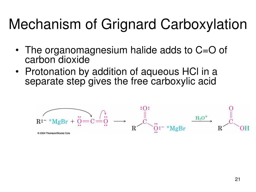 Mechanism of Grignard Carboxylation