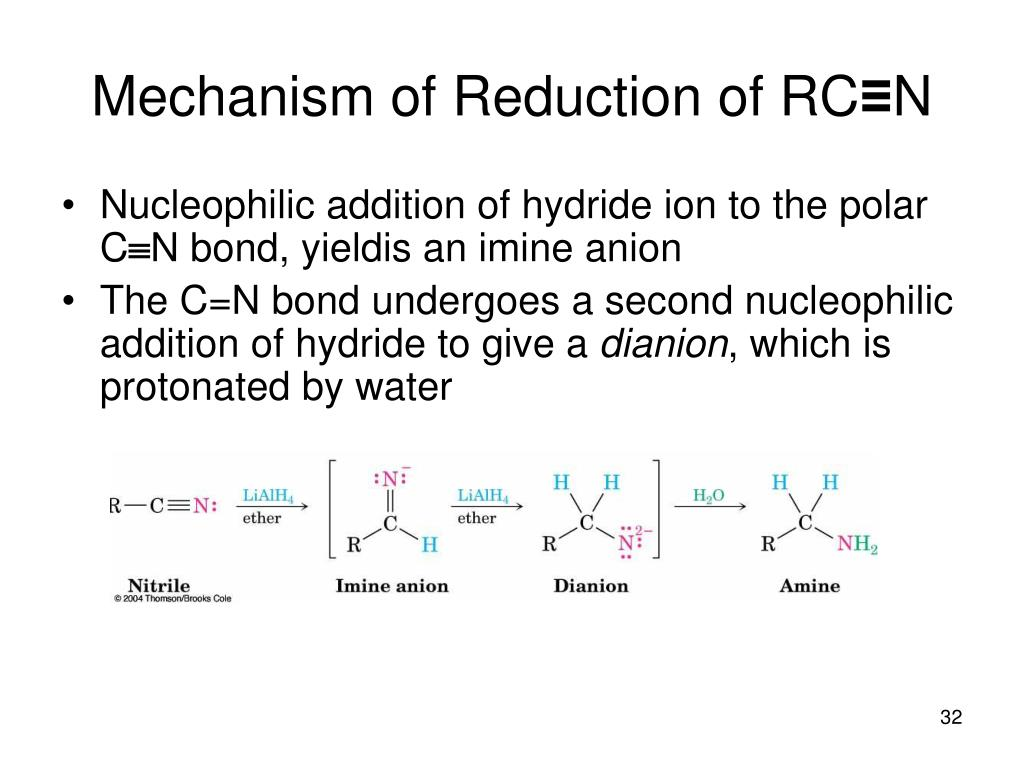 Mechanism of Reduction of RC