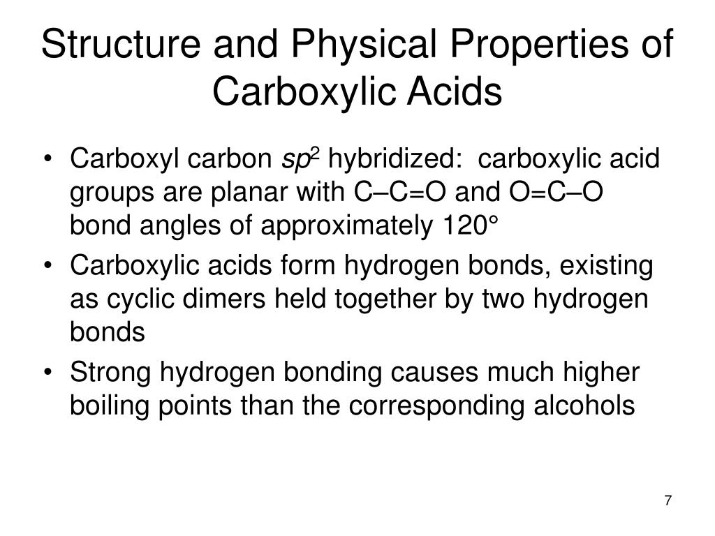 Structure and Physical Properties of Carboxylic Acids