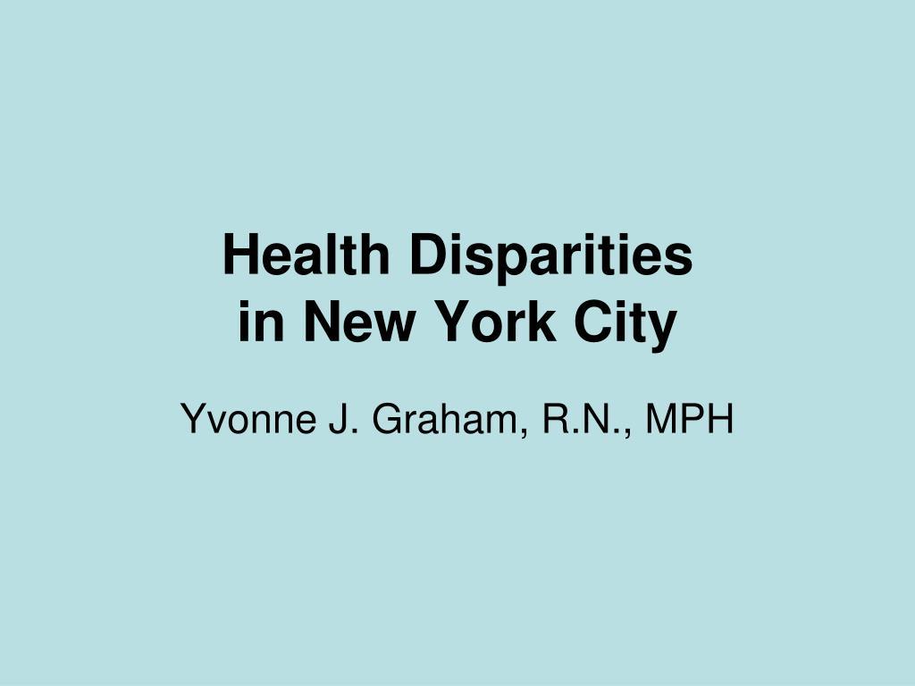 Health Disparities