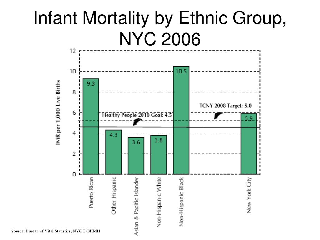 Infant Mortality by Ethnic Group, NYC 2006