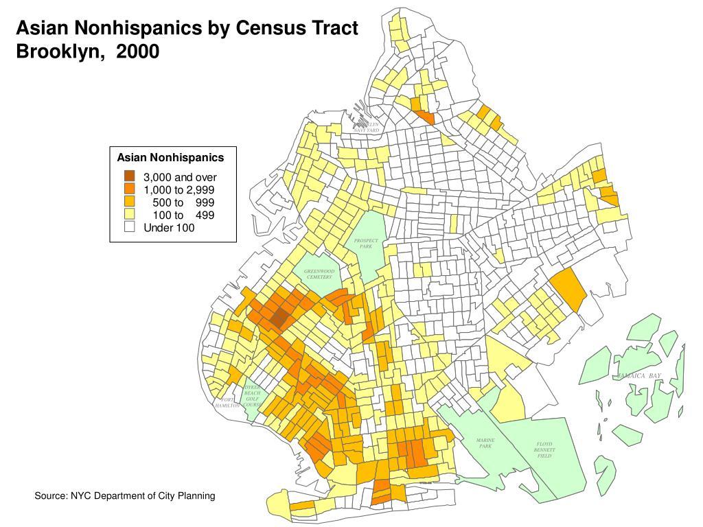 Asian Nonhispanics by Census Tract
