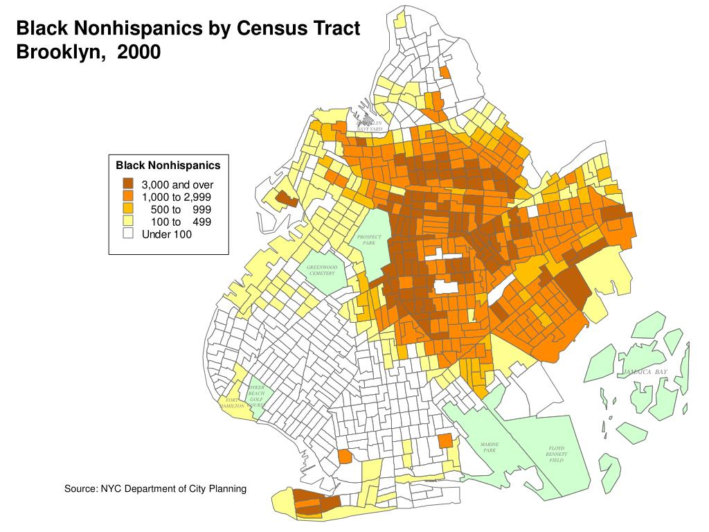 Black Nonhispanics by Census Tract