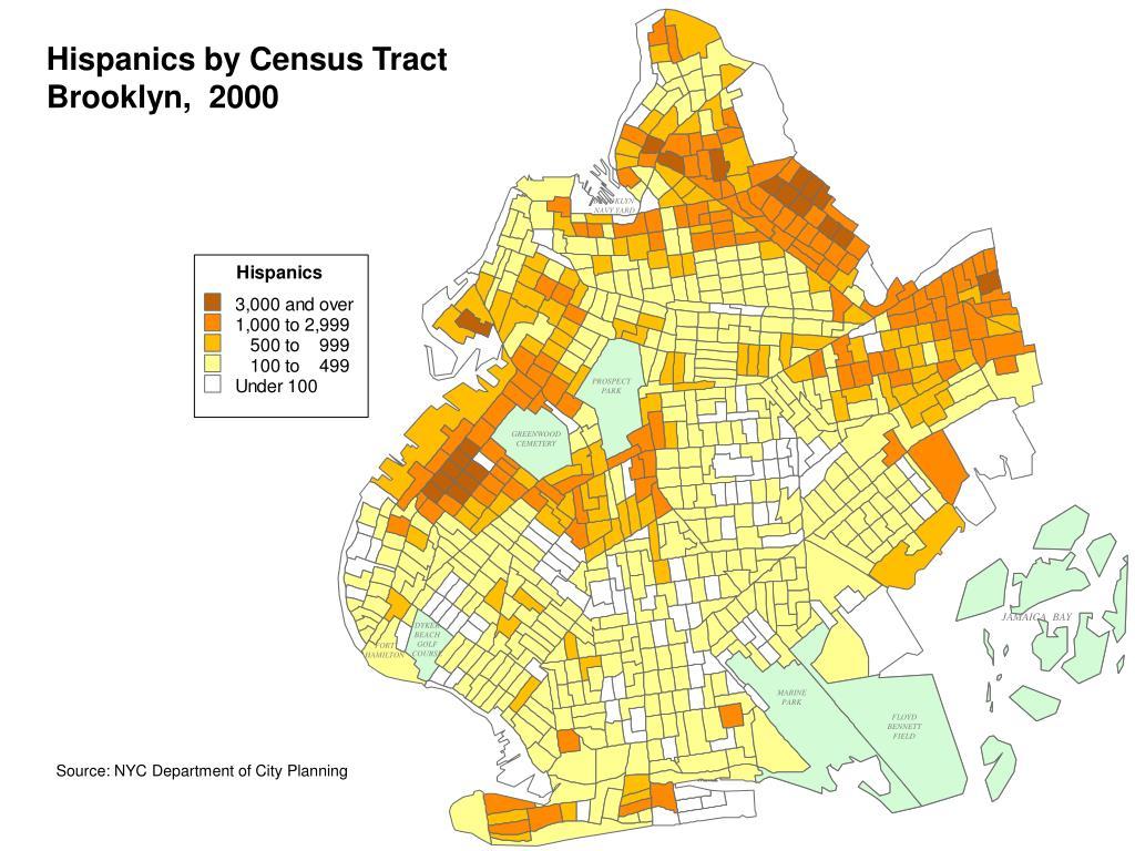 Hispanics by Census Tract