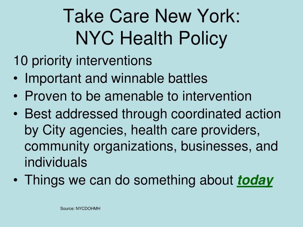 Take Care New York: