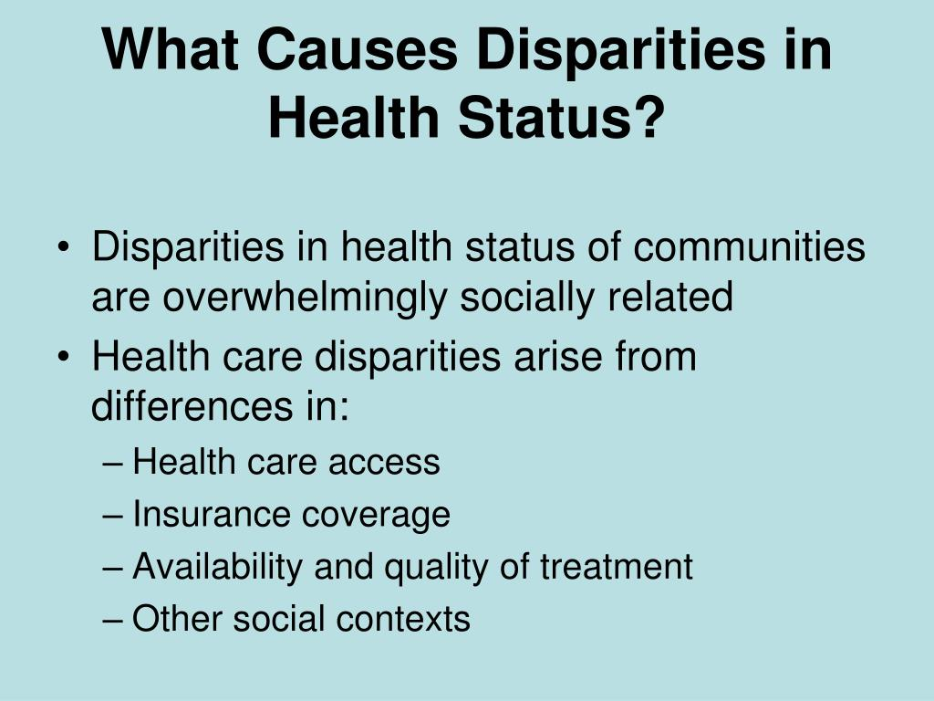 What Causes Disparities in
