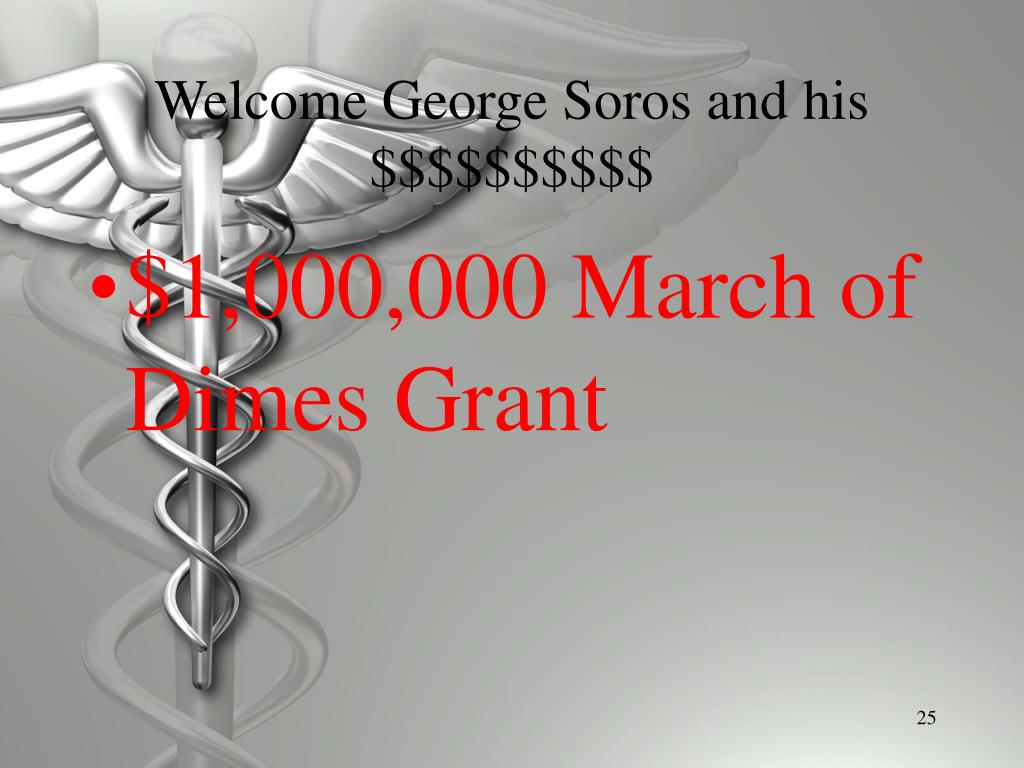 Welcome George Soros and his $$$$$$$$$$