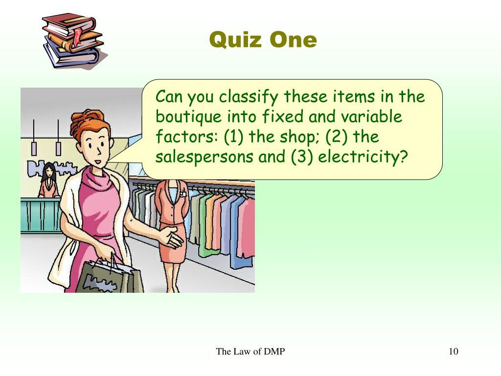 Quiz One