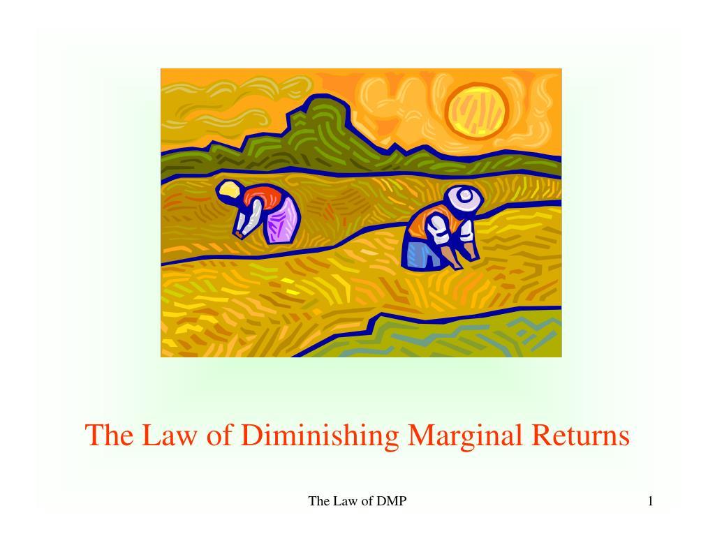 The Law of Diminishing Marginal Returns
