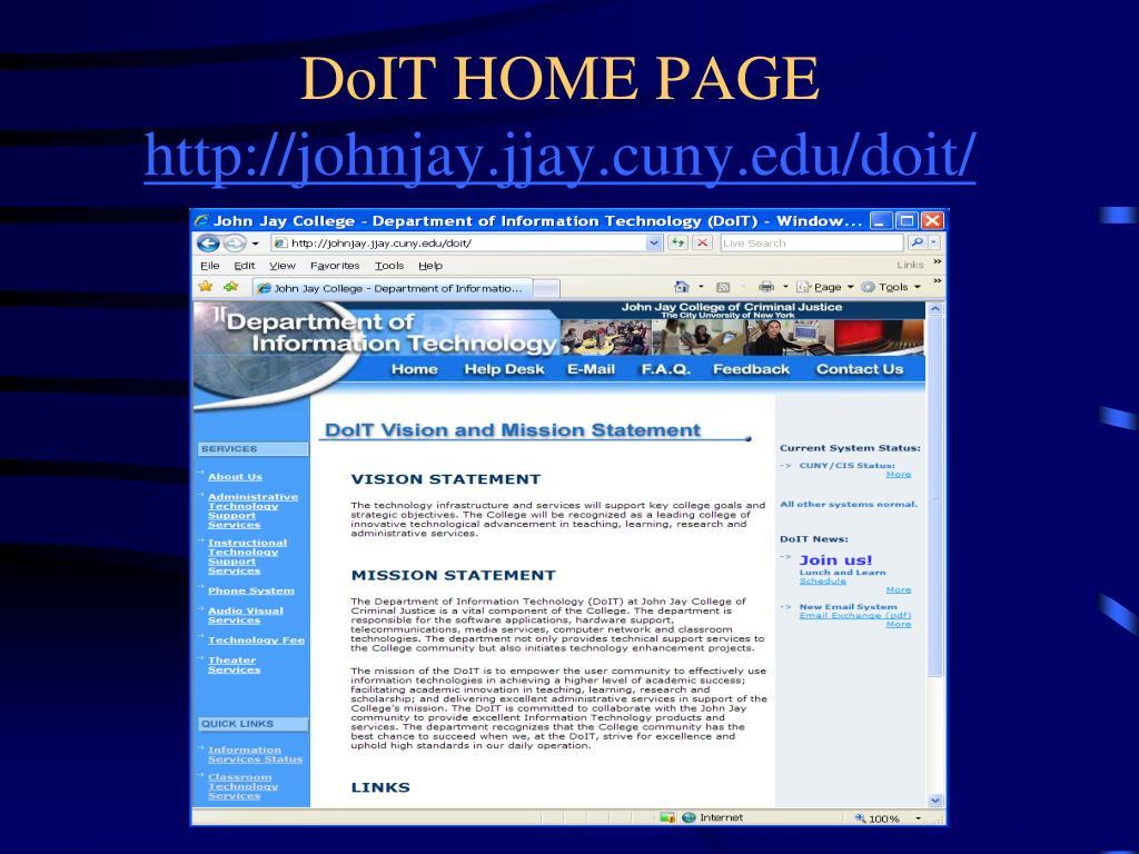 DoIT HOME PAGE