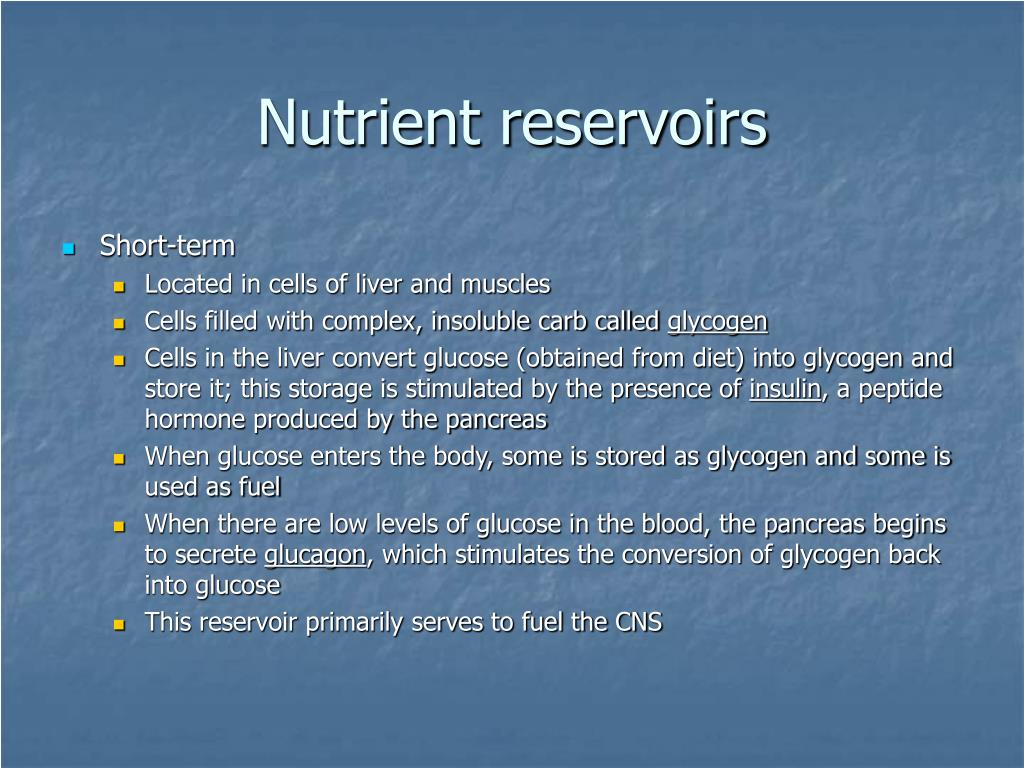 Nutrient reservoirs