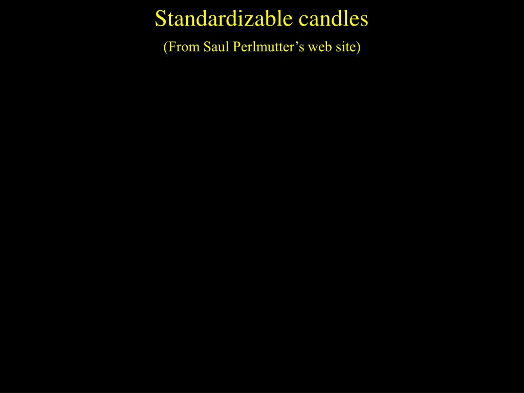 Standardizable candles