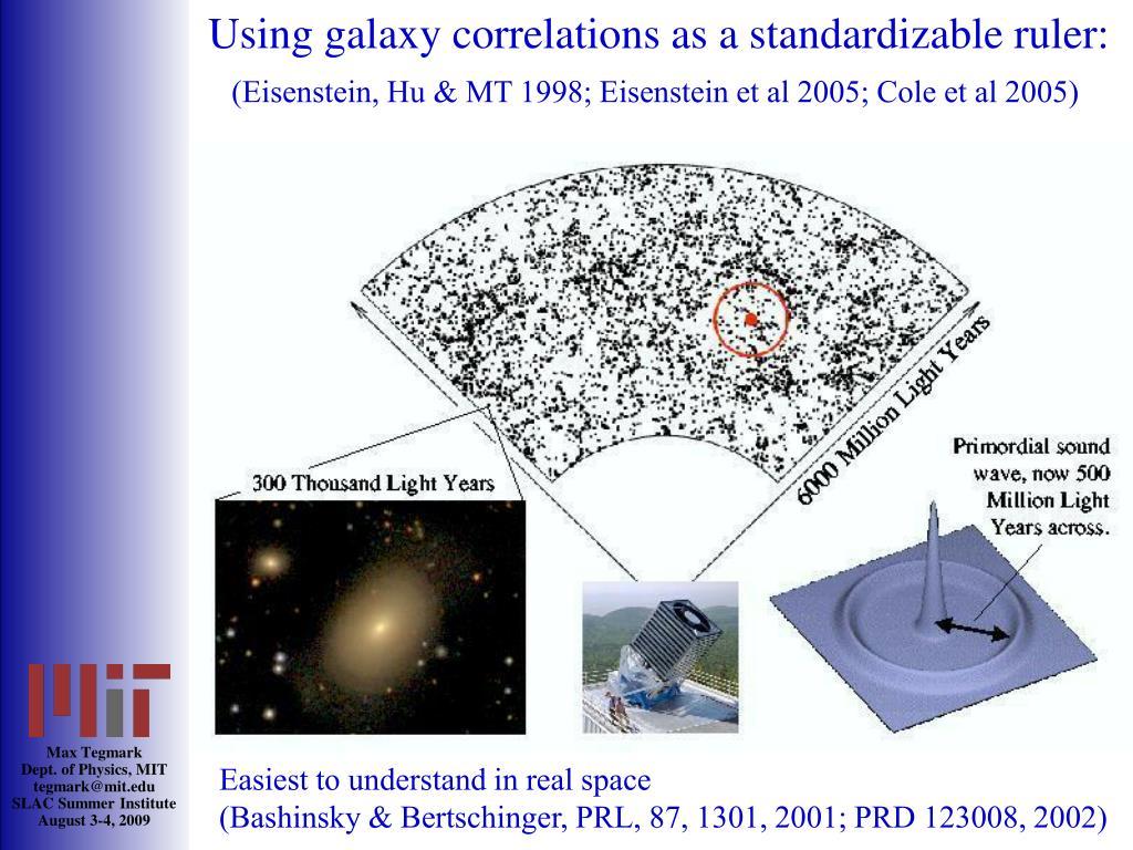 Using galaxy correlations as a standardizable ruler:
