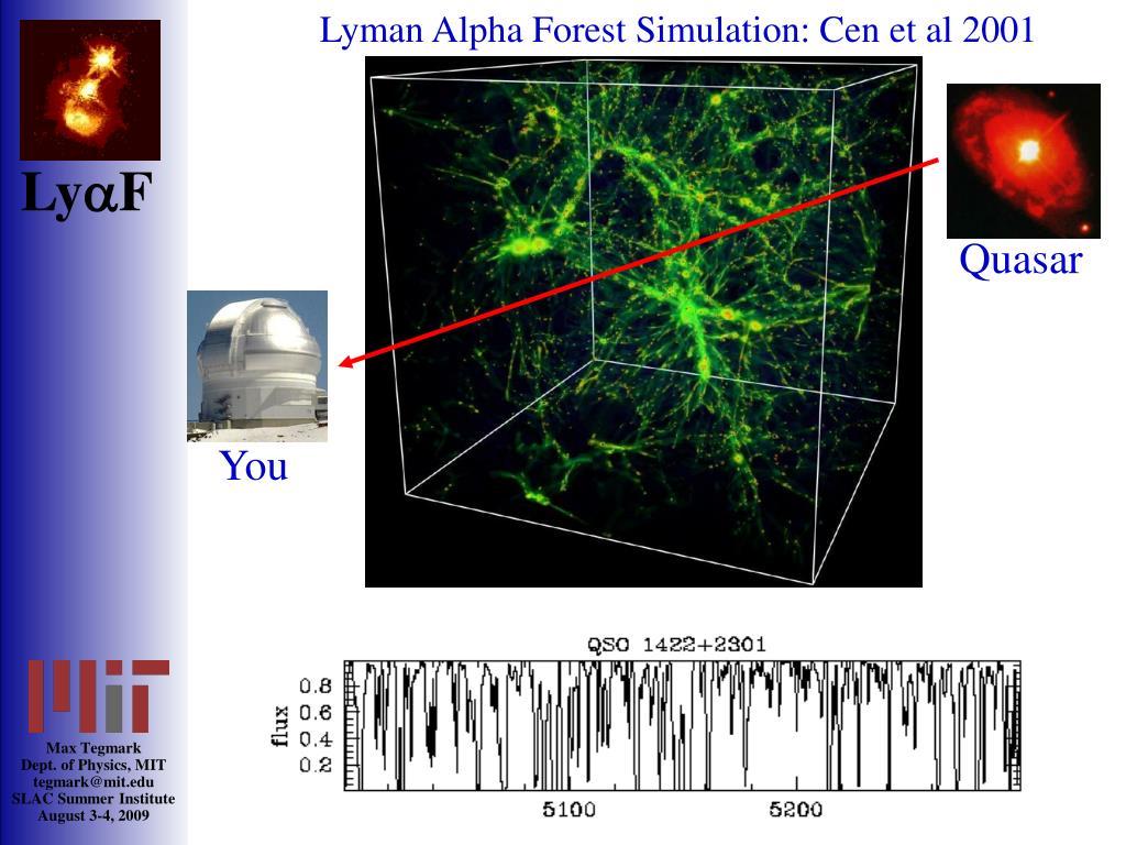 Lyman Alpha Forest Simulation: Cen et al 2001