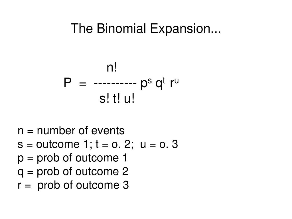 The Binomial Expansion...
