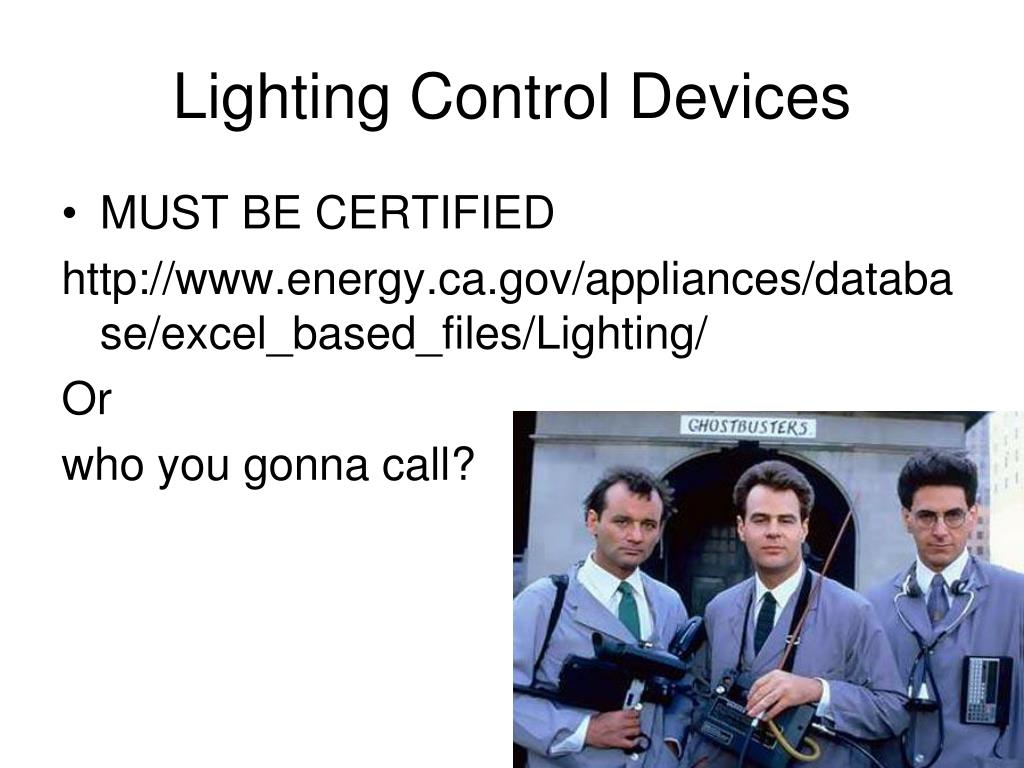 Lighting Control Devices