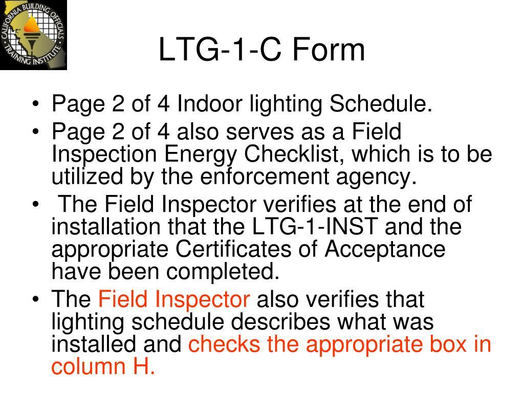 LTG-1-C Form