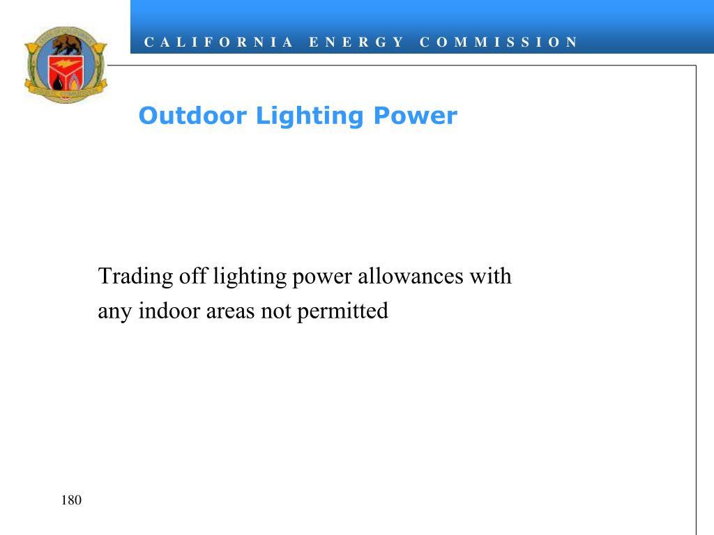 Outdoor Lighting Power