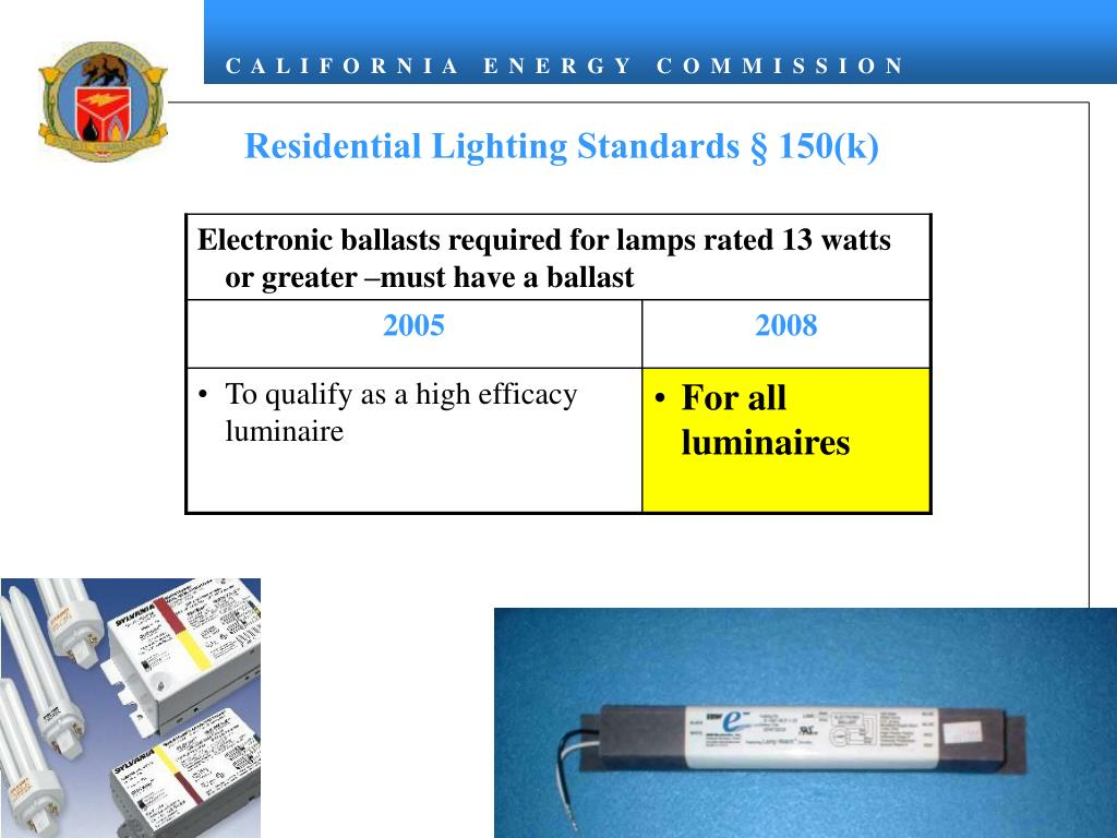 Residential Lighting Standards § 150(k)