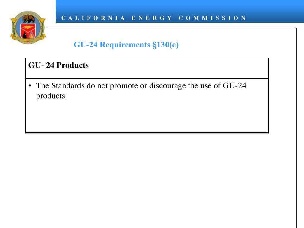 GU-24 Requirements §130(e)