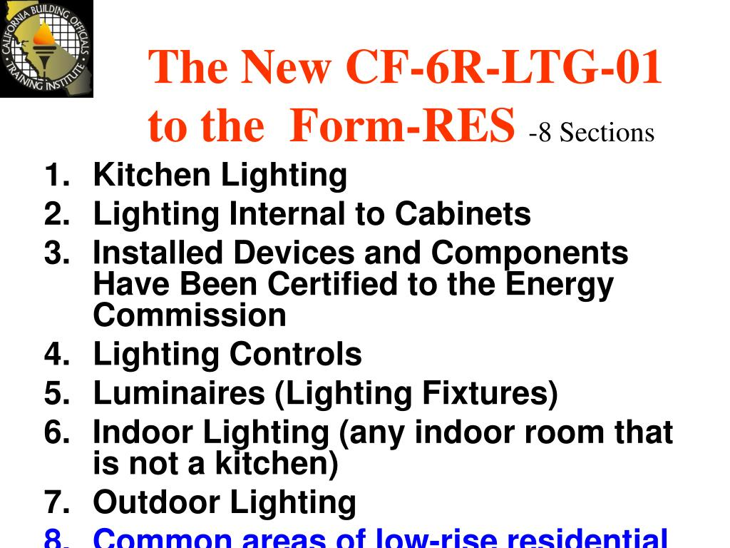 The New CF-6R-LTG-01 to the  Form-RES