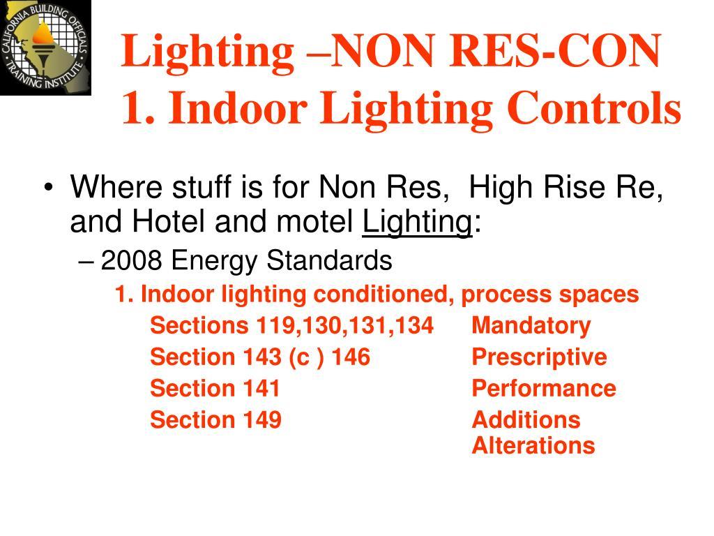 Lighting –NON RES-CON