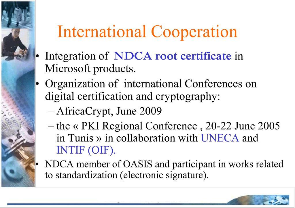 International Cooperation