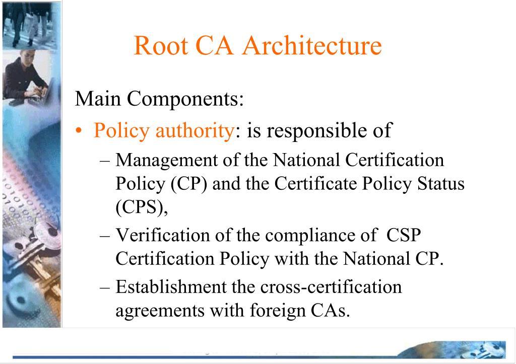 Root CA Architecture