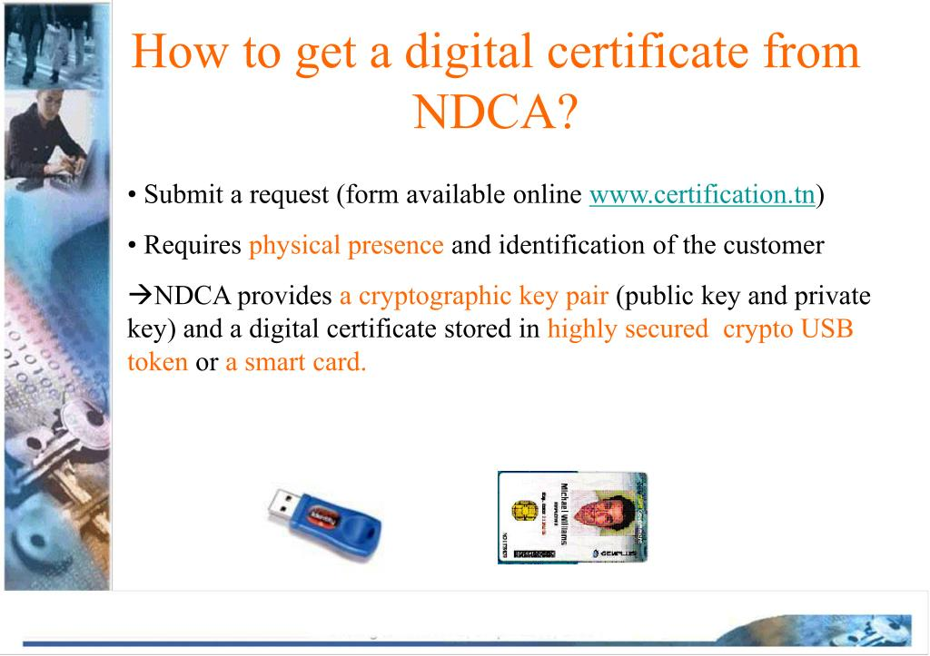 How to get a digital certificate from NDCA?