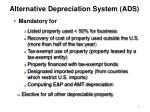 alternative depreciation system ads55