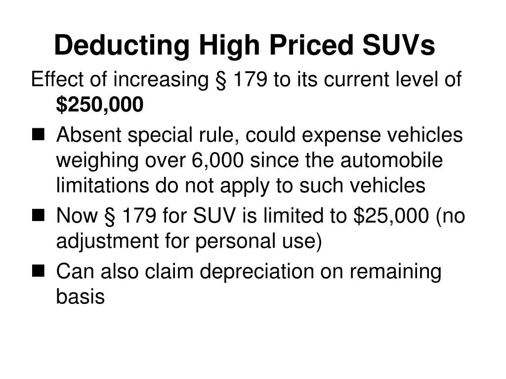 Deducting High Priced SUVs