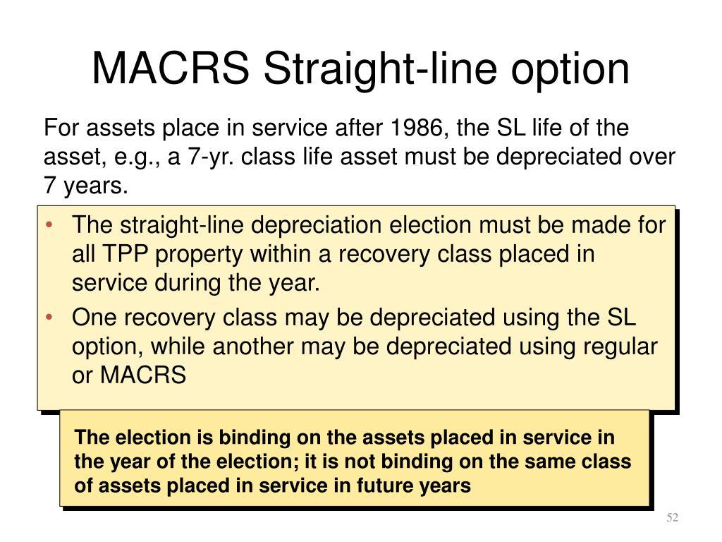 MACRS Straight-line option