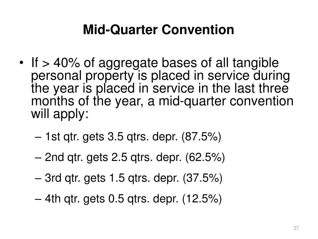 Mid-Quarter Convention