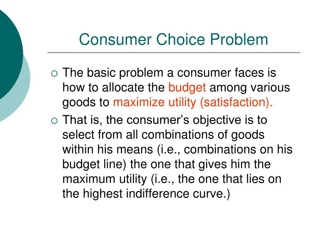 Consumer Choice Problem