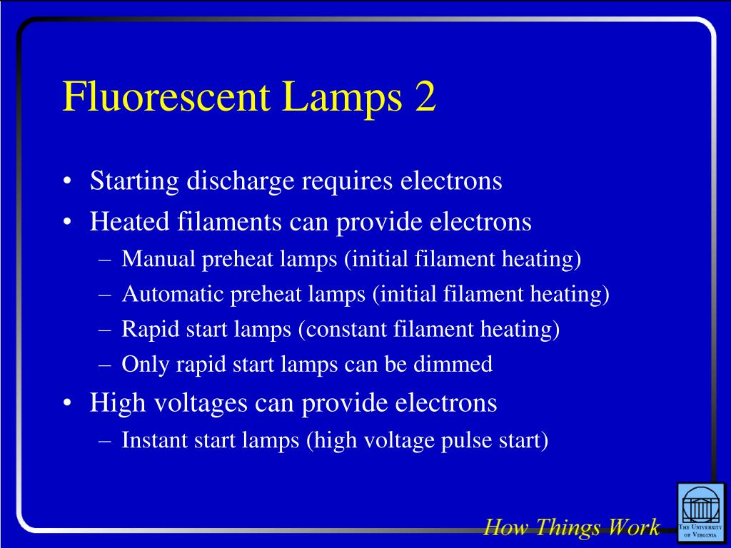 Fluorescent Lamps 2