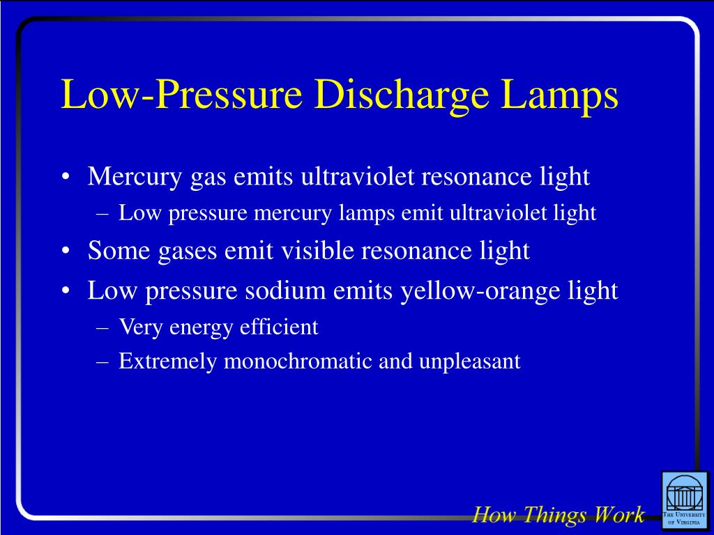 Low-Pressure Discharge Lamps