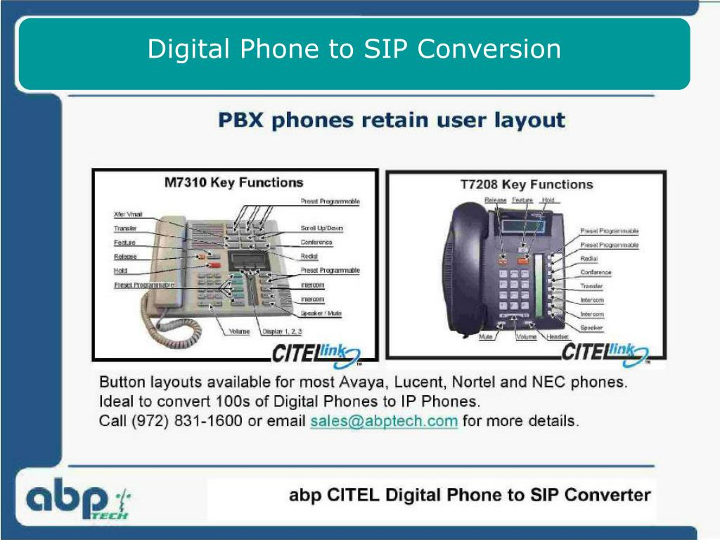 Digital Phone to SIP Conversion