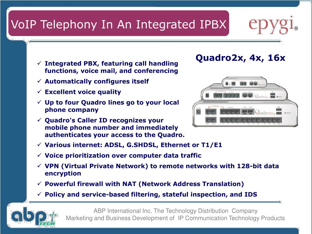 VoIP Telephony In An Integrated IPBX