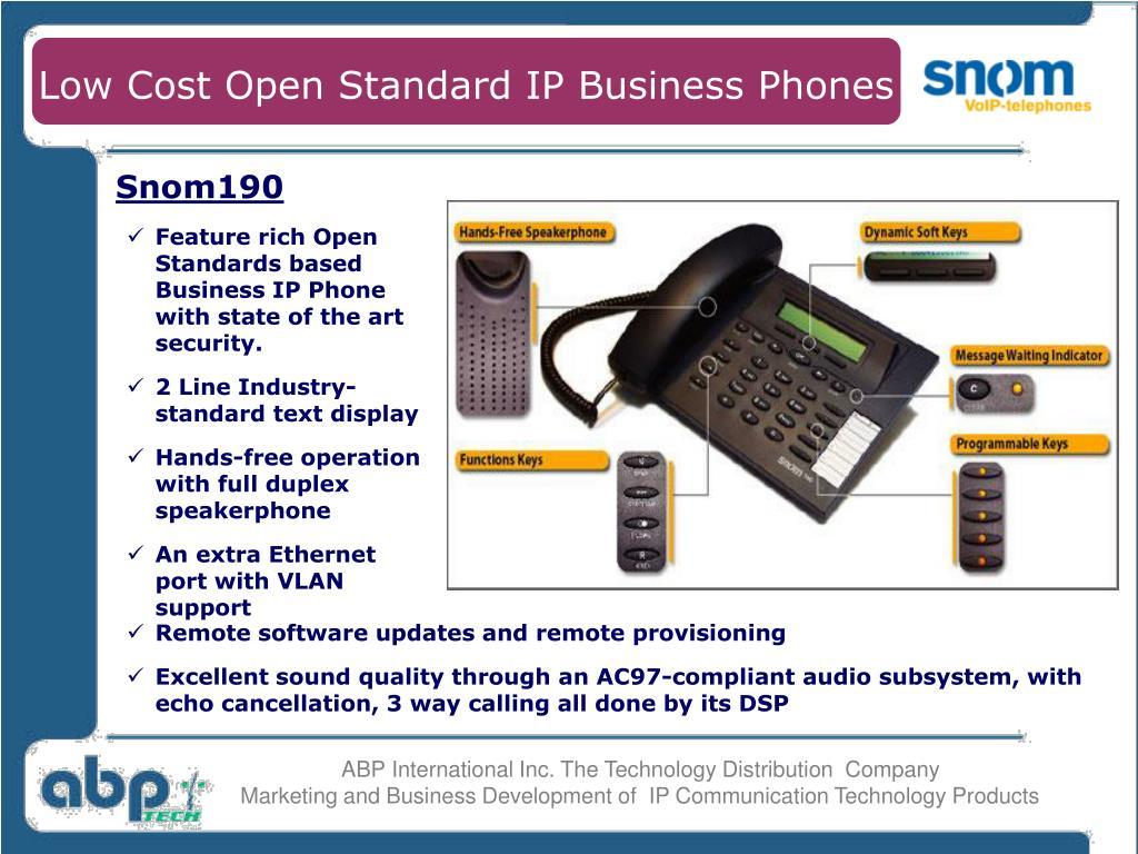 Low Cost Open Standard IP Business Phones