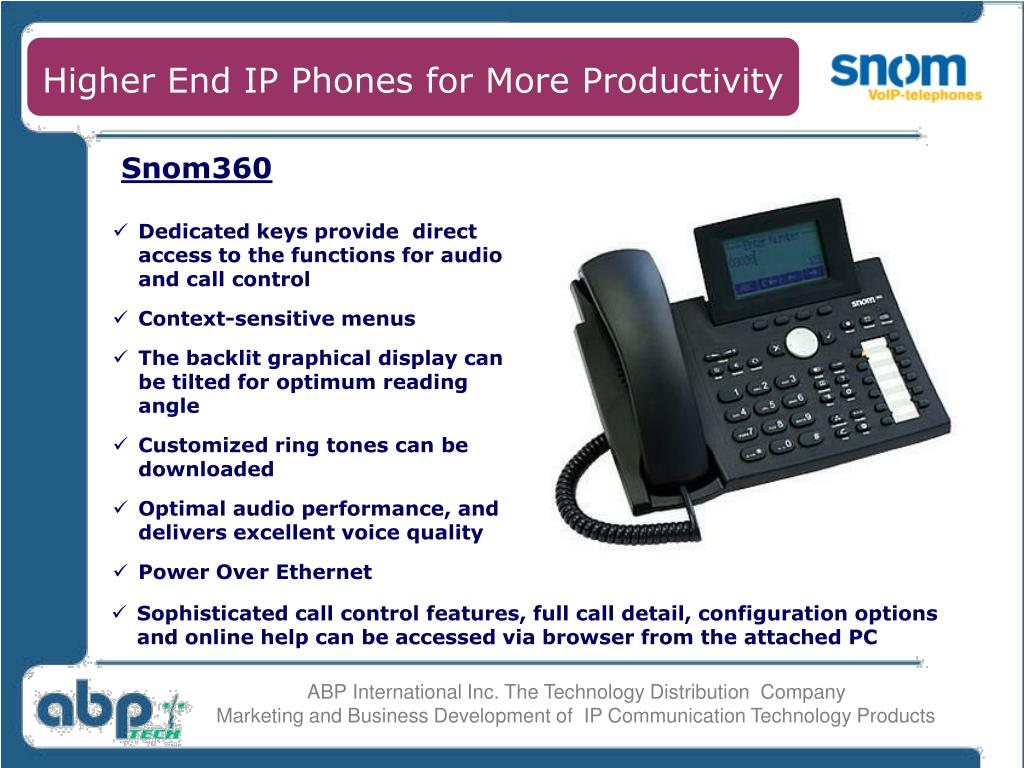 Higher End IP Phones for More Productivity