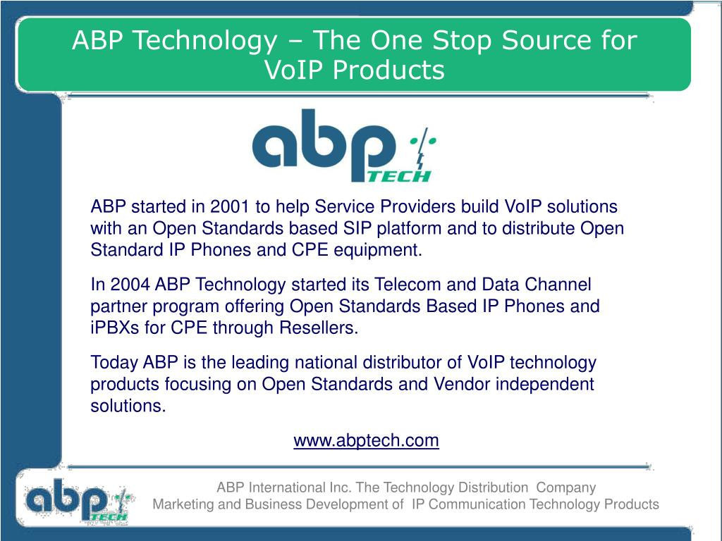 ABP Technology – The One Stop Source for