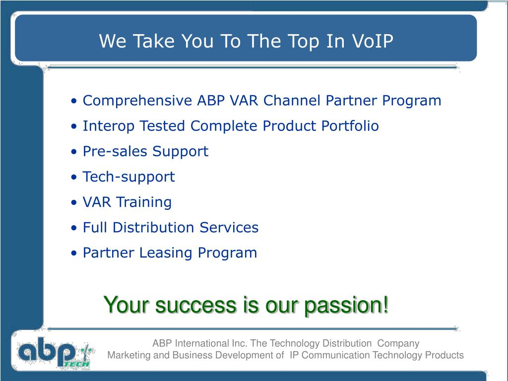 We Take You To The Top In VoIP