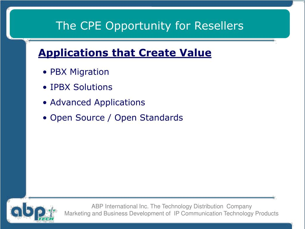 The CPE Opportunity for Resellers