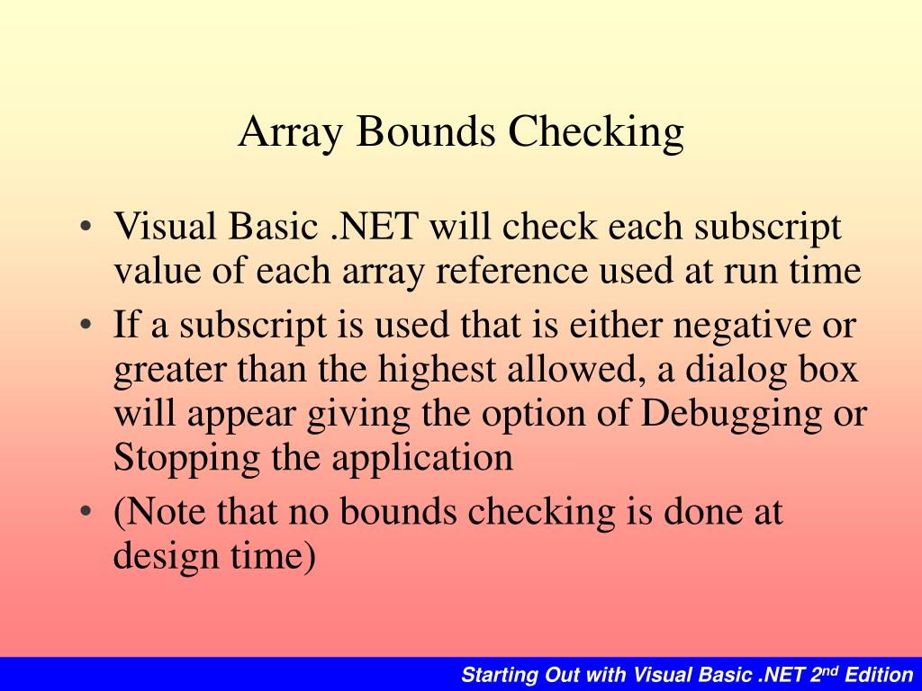 Array Bounds Checking