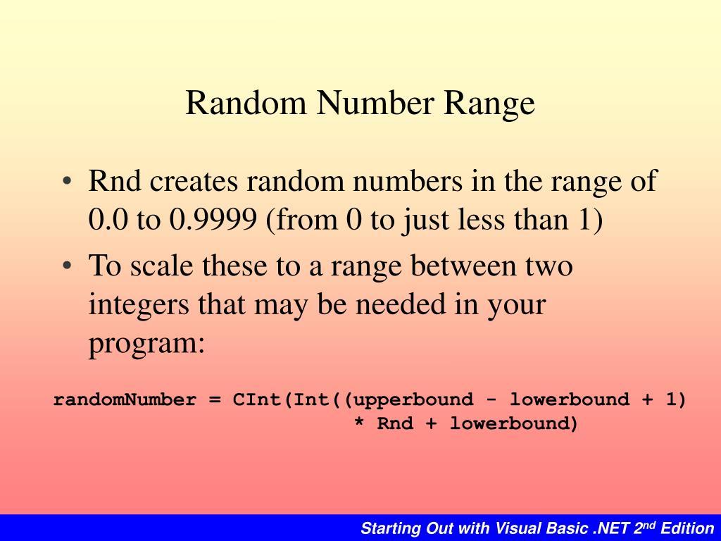 Random Number Range