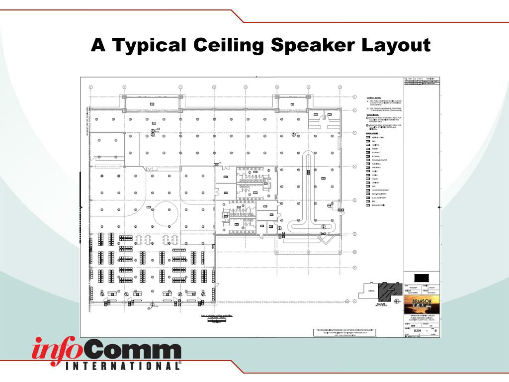 A Typical Ceiling Speaker Layout