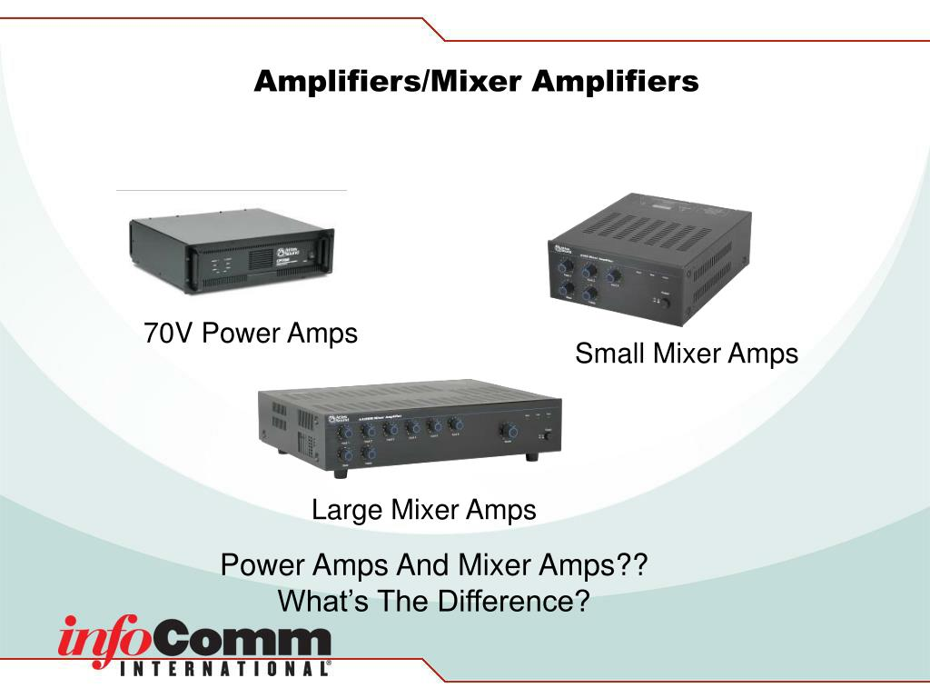 Amplifiers/Mixer Amplifiers