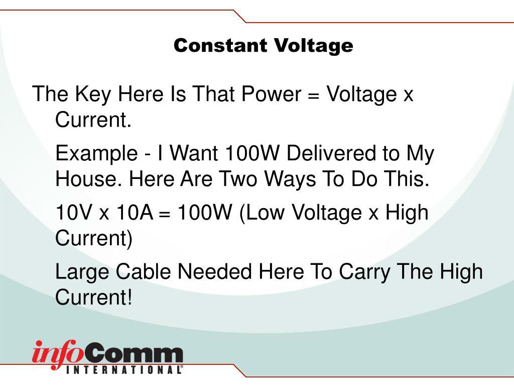 Constant Voltage