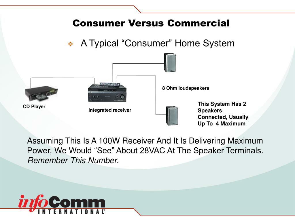 Consumer Versus Commercial