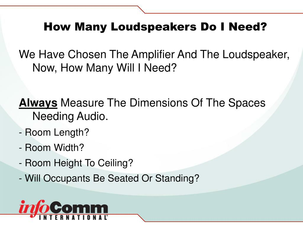 How Many Loudspeakers Do I Need?